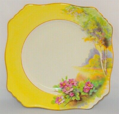 $ CDN19.99 • Buy Royal Winton Grimwades Yellow Scenic Floral Plate 9 Inch