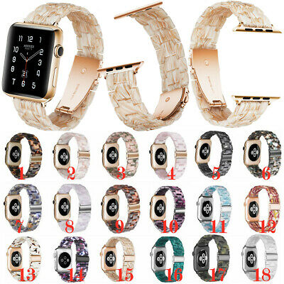 $ CDN23.73 • Buy For Apple Watch Band Series 51 38/40/42/44mm Resin Wrist Strap Butterfly Buckle