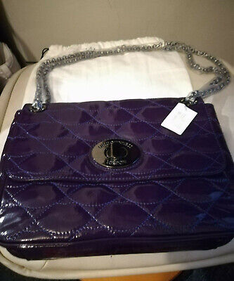 Lulu Guiness Purple Patent Leather Bag Bn New • 129£