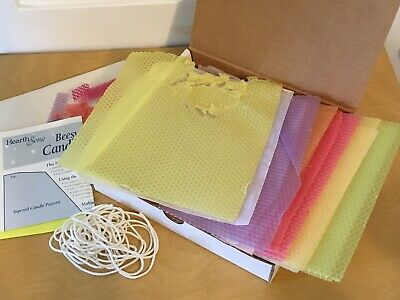 £8.52 • Buy Candle Making Kit Beeswax Taper Rolling Magic Cabin Kids Craft Partial