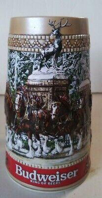 $ CDN15.72 • Buy 1987 Budweiser  C  Series Christmas Clydesdales Holiday Collector Beer Stein Mug