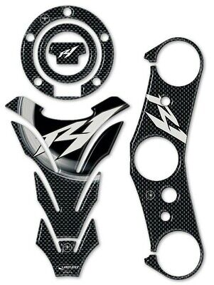 AU74.27 • Buy Stickers Kit Gel 3D Motorcycle Compatible Yamaha YZF R1 2007-2008 Carbon Look