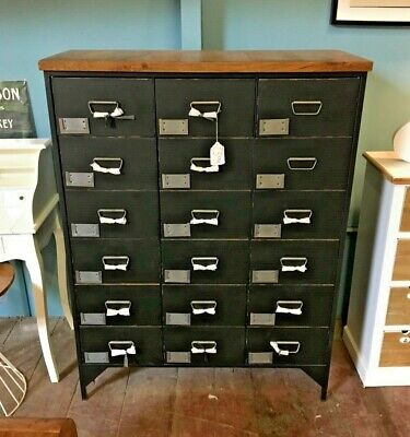 Japanese Medicine Drawers Style  / Chest / Metal Frame / 18 Compartment • 645£