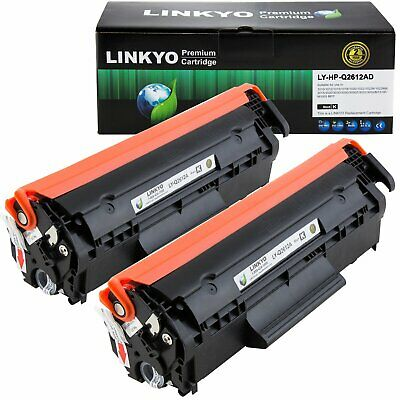 $ CDN39.83 • Buy Linkyo Compatible Toner Cartridge Replacement For Hp 12A Q2612A (Black, 2-Pack)