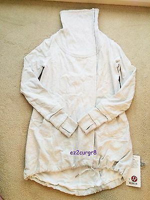 $ CDN259.99 • Buy Lululemon Gratitude Wrap Jacket Heathered White Sz 6 2013 Release