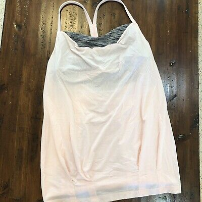 $ CDN79.27 • Buy Lululemon CYB Tank EUC Size 10 Pretty Pink Angel Wing Built In Bra