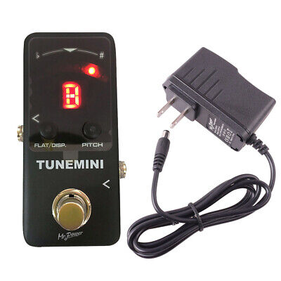 $ CDN46.66 • Buy Mini Chromatic Tuner Pedal Pitch Effects Pedal Tuner & US Plug For Guitar Bass