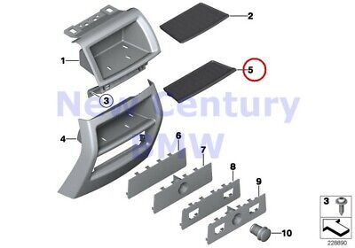 $23.01 • Buy BMW Genuine Mounting Parts Center Console Rear Oddments Tray Rear Rubber Insert