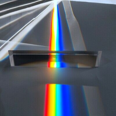 $10 • Buy Crystal Triangular Prism 40*40*180 Optical Glass Equilateral Prism Rainbow Prism