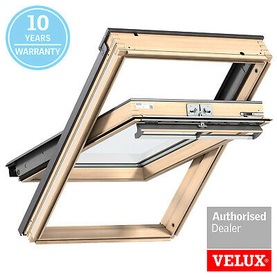 VELUX Roof Window GGL 3070, Pine, Centre-pivot With Flashing Kit • 299.99£