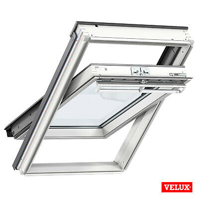 VELUX Roof Window GGL 2070, White Painted, Centre-pivot With Flashing Kit • 299.99£