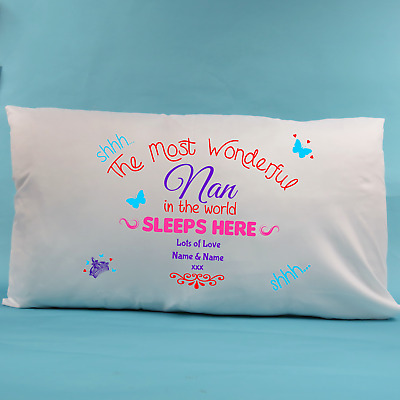 Mothers Day Gift From The Kids, Pillow Case, Personalised Mothers Day Gift • 12£