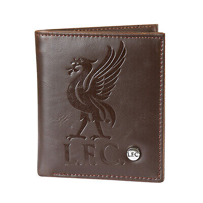 Liverpool FC Official Football Gift Luxury Brown Faux Leather Wallet • 14.99£