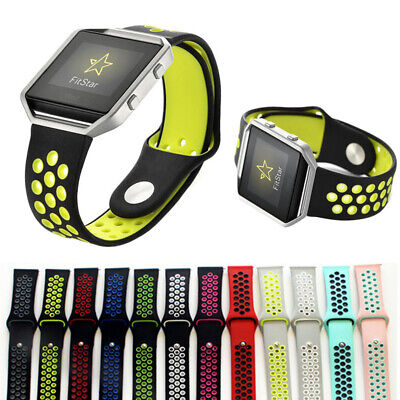 AU8.49 • Buy For Fitbit Blaze Sport Silicone Replacement Breathable Soft Strap Wristband Band