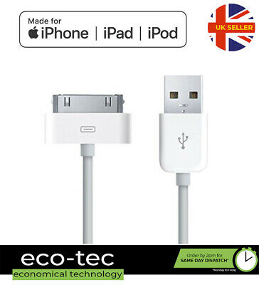 1m OLD TYPE USB Charger Sync Data Cable Lead For IPhone IPad IPod Touch • 2.95£