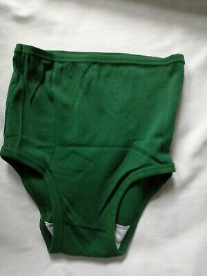 £5.99 • Buy Gym Knickers X Small Size 18-20in Waist PE/Games Briefs Netball Panties Green