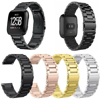 $ CDN15.89 • Buy For Fitbit Versa Bracelet Stainless Steel Strap Metal Wristband Loop Watch Band