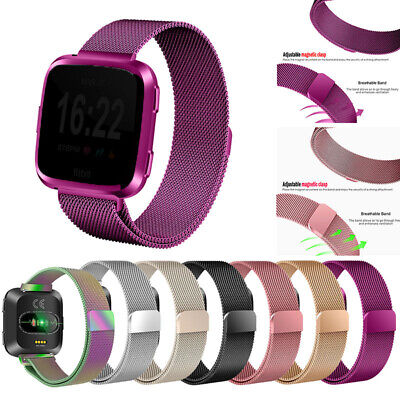$ CDN11.30 • Buy Magnetic Milanese Metal Band Stainless Steel Wrist Band Strap For Fitbit Versa