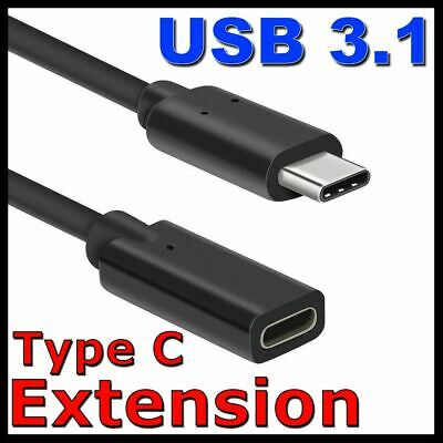 AU9.25 • Buy USB 3.1 Type-C Extension Charging Cable Male To Female Cord USB-C Lead Adapter