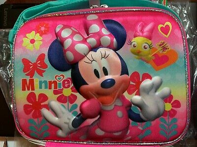 Disney Minnie Mouse Insulated Lunch Box Nwt Kids School Food Bag • 14.89£