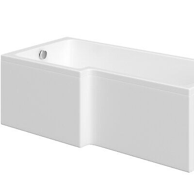 1700mm L-Shaped Bath Front Panel Sanitary Grade White Acrylic Bathroom Tub Cover • 114.97£