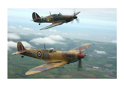 £20.99 • Buy Spitfire & Hurricane 2 A4 Picture Photograph Poster Choice Of Frame
