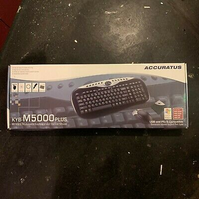 Accuratus KYB-M5000 Wireless Keyboard With Optical Mouse USB And PS/2 Compatible • 15£