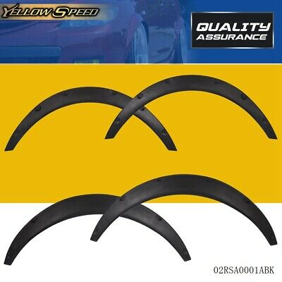 $24.32 • Buy Universal 4 PCS Car Tires Fender Flares Flexible Durable Polypropylene Body Kit