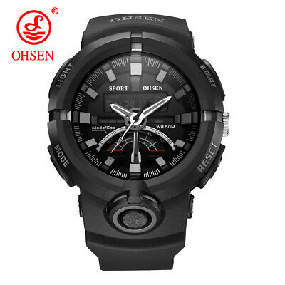 AU25.99 • Buy OHSEN Men Sport Watches Military Casual Men Watch Quartz Waterproof Rubber Gift