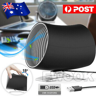 AU23.85 • Buy USB Cooling Rotatable Desk Fan MINI Ultra Quiet Portable Touch Control Summer