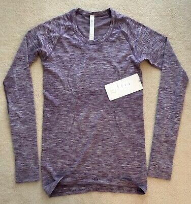 $ CDN129.99 • Buy Lululemon Swiftly Long Sleeve Crew Space Dye Heathered Royalty 6 Older Release