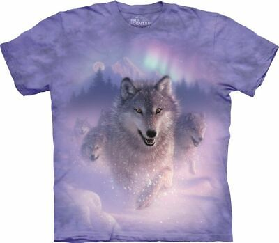 £26.99 • Buy NORTHERN LIGHTS WOLVES The Mountain T Shirt Lights Snow Unisex
