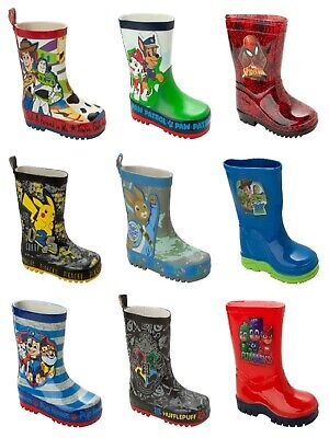 £14.99 • Buy Boys Official Character Wellies Wellington Rain Snow Welly Boots Kids Size 5-2