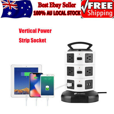AU40.56 • Buy Surge Protector Power Board 10/14 Way Socket Outlets With 4 USB Charging Charger