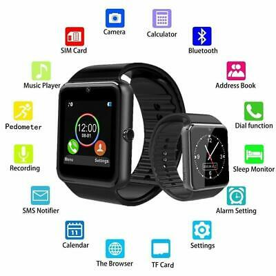AU19.33 • Buy Latest Smart Watch With Touch Screen Text Call Mic Speaker For Iphone Samsung Lg