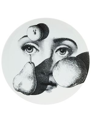 $260 • Buy Magnificent Fornasetti LINA With Fruit On Face Print PLATE Piero Fornasetti NIB