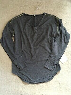 $ CDN119.99 • Buy Lululemon Weekend Long Sleeve Micro Stripe Blk Wht Antidote Stitch 10 (Sz 6sold)