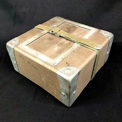 $29.99 • Buy Vintage Shipping Box Case Container Military 16mm Movie Film 45RPM Vinyl Records