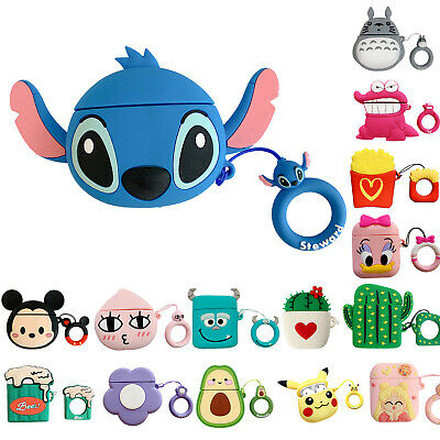 AU7.49 • Buy For Apple Airpods Charging Case Earbuds Protector Cover 3D Cute Silicone Cartoon