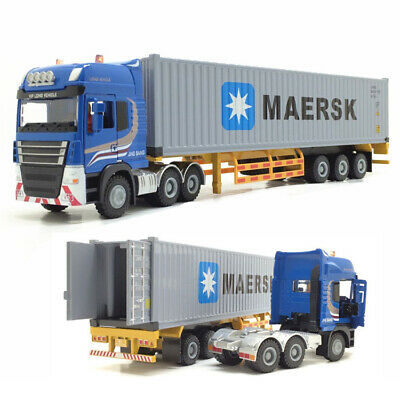 1:50 Alloy Maersk Semi-mounted Container Cargo Logistics Truck Open Dorrs Toys • 23.65£