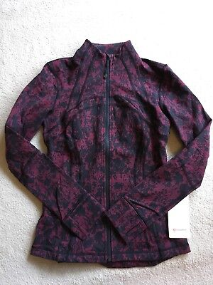 $ CDN249.99 • Buy Lululemon Define Jacket Scatter Blossom Jacquard Garnet Black 8