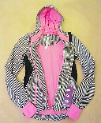 $ CDN249.99 • Buy Seawheeze Lululemon Downtime Jacket Vintage Pink Stripe White Black 4