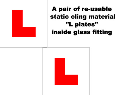 2 X UK Legal L Plates Self Adhesive Re-usable Static Cling Inside Glass Fitting • 2.25£