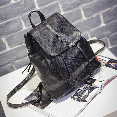 Women Girls Ladies Leather Backpack Travel Shoulder Bag PU Rucksack Handbag • 6.99£