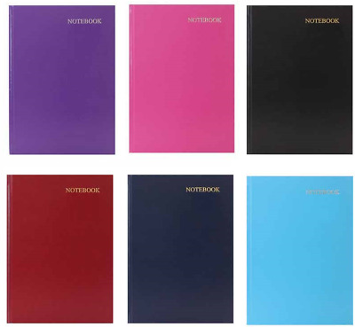 A5 Leatherette HARDBACK LINED NOTEBOOK, NOTE PAD, STATIONARY, SCHOOL BOOKS • 2.99£