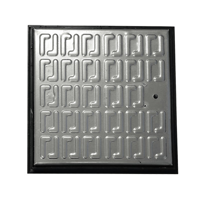 Pedestrian Manhole Cover - Galvanised Steel And PVC Frame 286 X 286mm • 19.99£