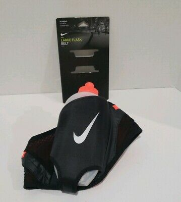 $27.55 • Buy Nike Large Flask Hydration Running Belt With 20 Oz Water Bottle Black NEW $45+