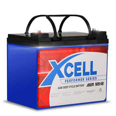 AU99 • Buy X-Cell 50Ah AGM Battery Deep Cycle 12v Mobility Scooter Golf Cart Camping Volt