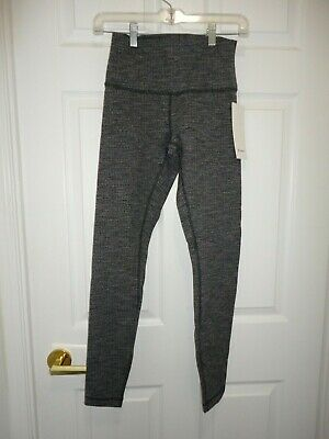 $ CDN122 • Buy NWT Lululemon Wunder Under HR Tight Luon Variegated Knit Black Heathered 6