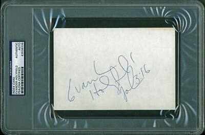 £138.98 • Buy Evander Holyfield Boxing Authentic Signed 4X6 Index Card PSA/DNA Slabbed 2